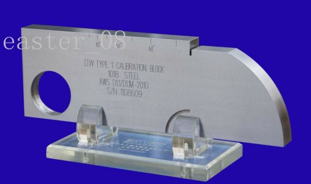 New AWS IIW-Type 1 UT Test Block (Inch ,1018 Steel) Unbranded/Generic