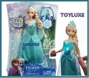Disney-Frozen-ELSA-Musical-Magic-Doll-12-034-Lights-Up-Glow-amp-Plays-Music-LET-IT-GO