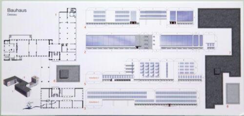Postkarte  Bauhaus das Bauhaus zum Selberbauen