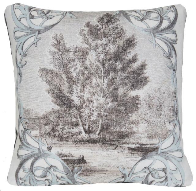 Tree Cushion Cover Grey Décor Pillow Case Osborne and Little Vedute