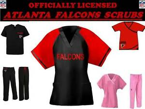 ca2d14ed47b Image is loading ATLANTA-FALCONS-SCRUB-TOP-ATLANTA-FALCONS-SCRUB-PANTS-