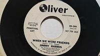 """JIMMY HARRIS - When We Were Friends / With You My Love RARE 1966 SOUL R&B 7"""""""