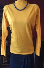 True Vintage Blouse Miss K Kmart Yellow Long Sleeve Knit Retro Mod