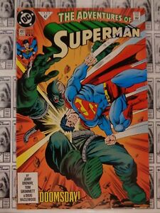 Adventures-of-Superman-1987-DC-497-3rd-Print-Variant-CVR-Doomsday-VF
