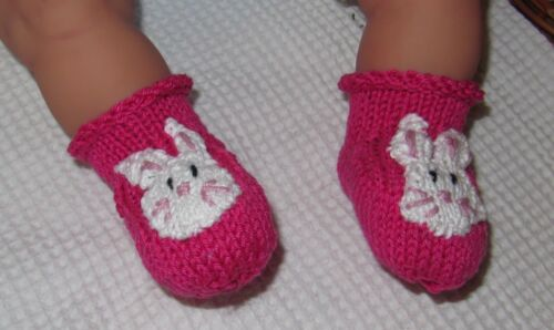 PRINTED INSTRUCTIONS BABY BUNNY BOOTEES ANIMAL BOOTIES KNITTING PATTERN