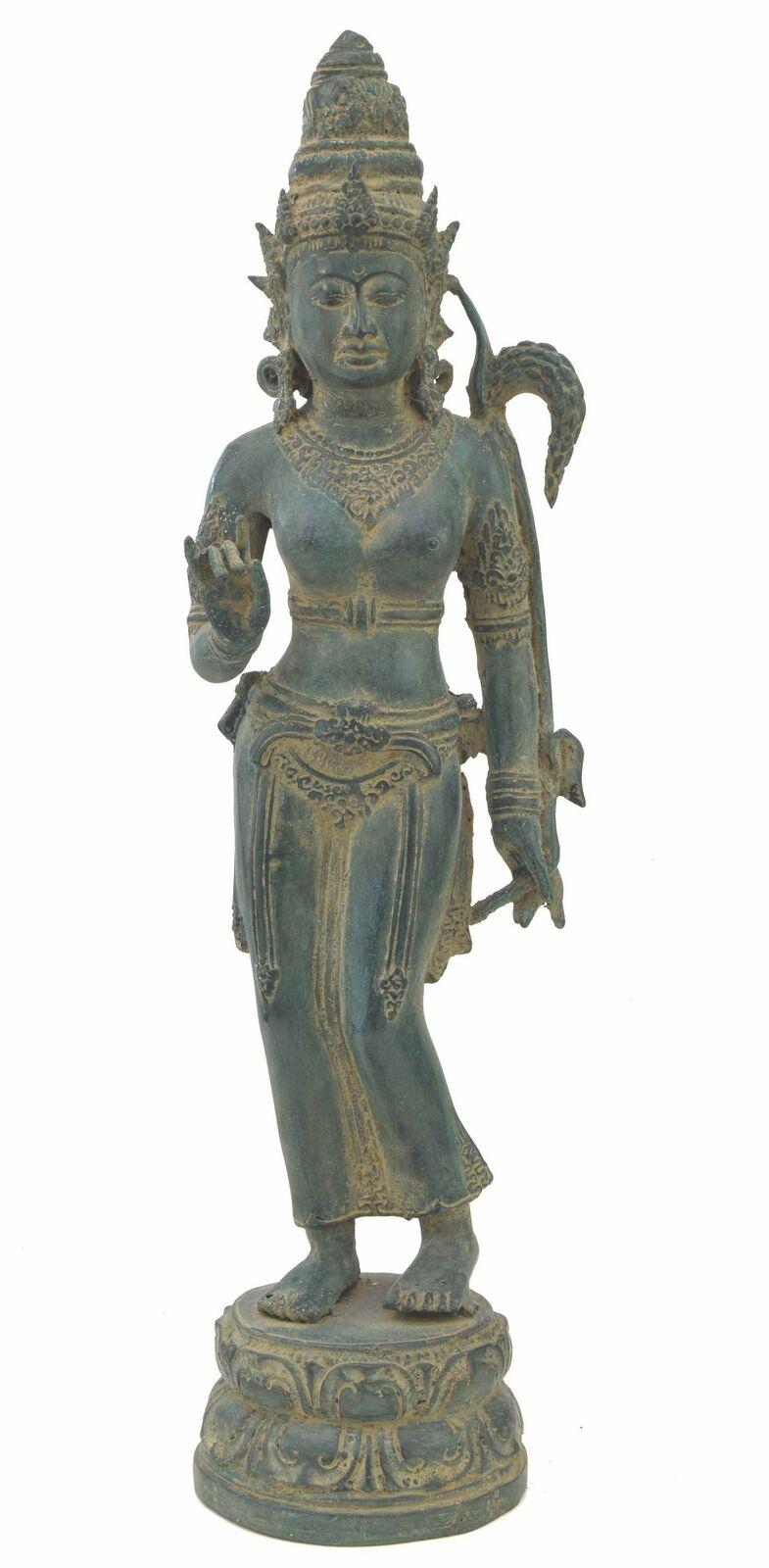 Shiva Buddha 48cm aus einer Bronze Legierung Tara Asien Thailand