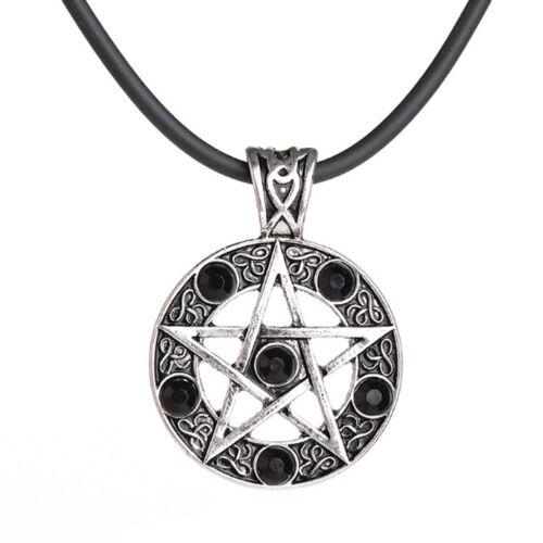 Collar amuleto remolque pentagrama pentagrama Wicca Baphomet misticismo Goth LARP