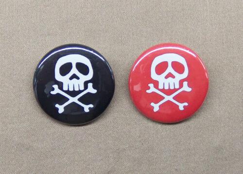 """Captain Harlock /& Queen Emeraldas Buttons 1.25/"""" Space Pirate Skull Crossbones"""