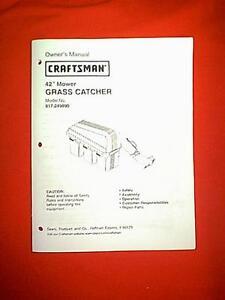 Craftsman 42 Quot Grass Catcher Triple Bagger 917 249890 Owner