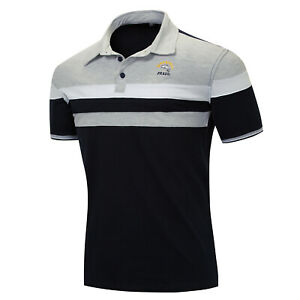 New-Men-Shark-Polo-Shirt-Short-Sleeve-Embroidered-Tee-Top-Striped-Cotton-T-Shirt