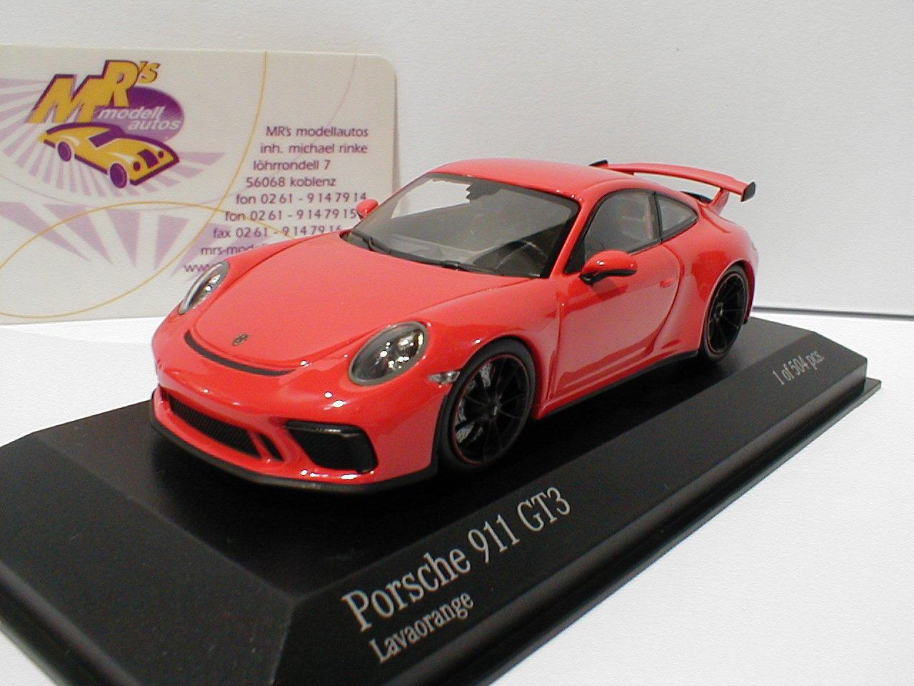 Minichamps 410066024-Porsche 911 (991) gt3 año de fabricación 2016 en  lavaNaranja  1 43