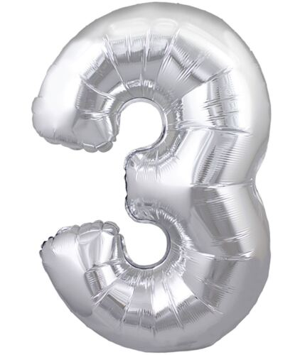 Kids Foil Numbers Happy Birthday Balloon Childs Fancy Party Decoration Accessory
