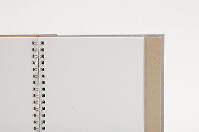 Spiral bind JOURNAL Sketch PAD Kraft cover notebook Kraft white paper Blank Rule
