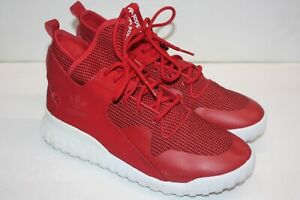 detailed look 68038 74a96 Image is loading Adidas-Tubular-X-Red-White-Leather-amp-Suede-