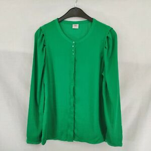 ESPRIT-Ladies-Long-Sleeve-Top-Blusa-Talla-10-Color-Verde
