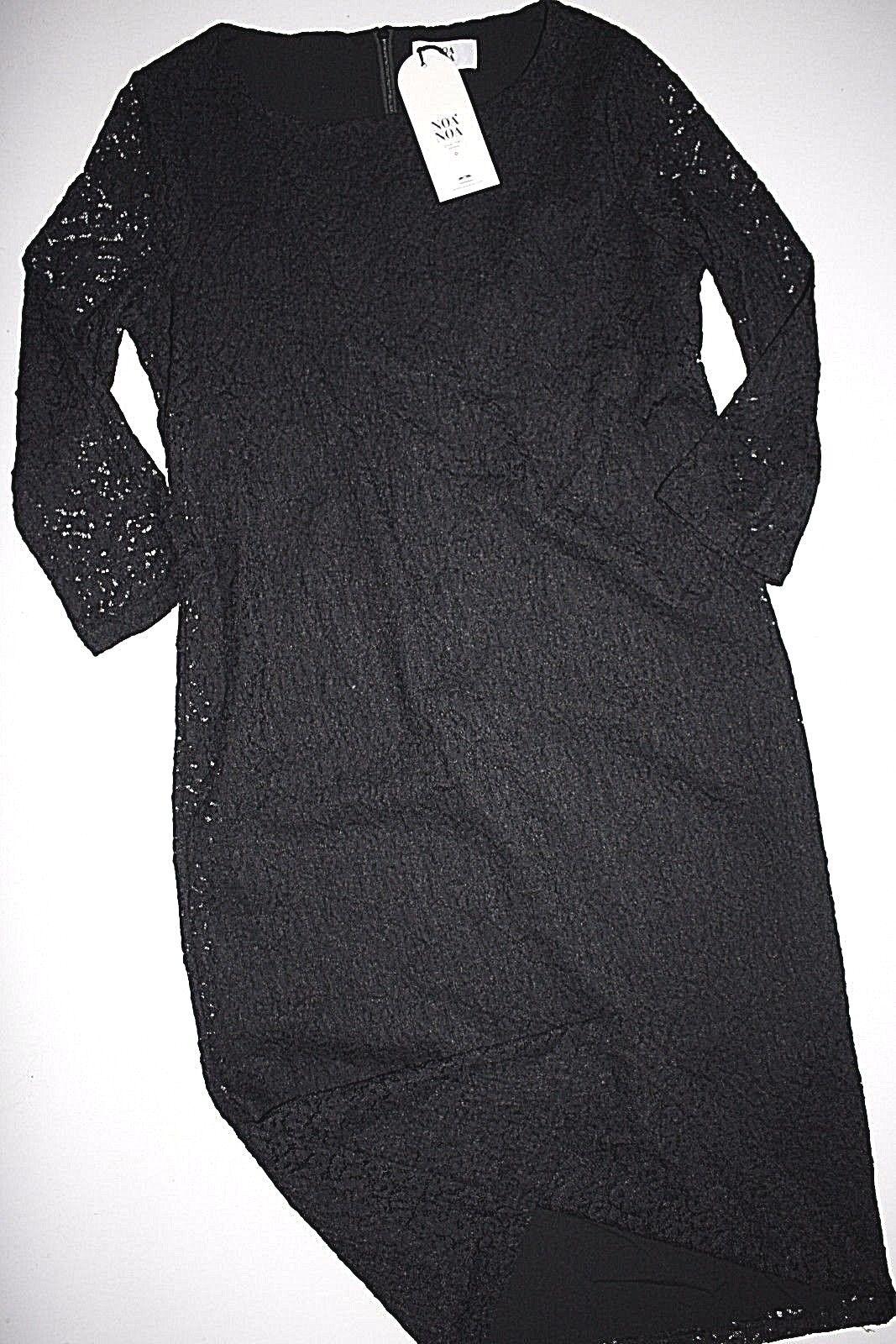 Noa NOA abito ASTUCCIO ASTUCCIO ASTUCCIO Dress Lace Mesh nero Punta Dimensione  34 NUOVO fc1ff5