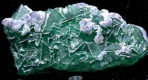 1-9lb-NATURAL-Calcite-Octahedral-Green-FLUORITE-Crystal-Cluster-Mineral-Specimen