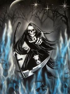 grim reaper 1 airbrush stencil multi layer template spray vision