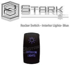 BLUE Laser Etched LED Rocker Switch Dual Light 20A 12V ON OFF - INTERIOR LIGHTS