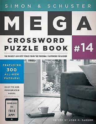 Simon & Schuster Mega Crossword Puzzle Book - John M Samson