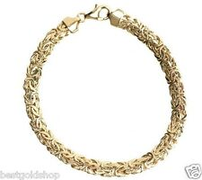 "6.75"" 6mm Byzantine Bracelet Lobster Clasp Real 14K Yellow Gold QVC j264950"