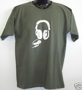 Fun-T-Shirt-Headphone-Kopfhoerer-gruen-S-XXL