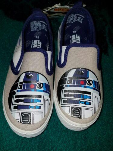 Disney STAR WARS boys canvas slip-on shoes New