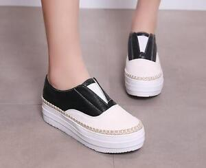 Bailarinas mocasines zapatos de tacón mujer 4 cm blanco negro como piel cómodo