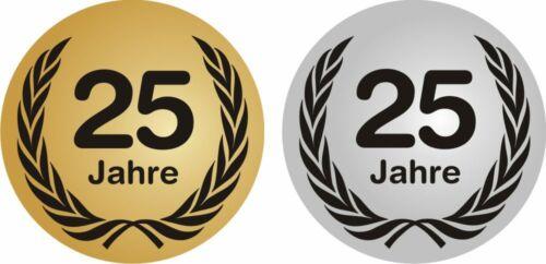 20 cm Aufkleber Geburtstag Jubiläum  gold und silber Jubiläumsaufkleber 10