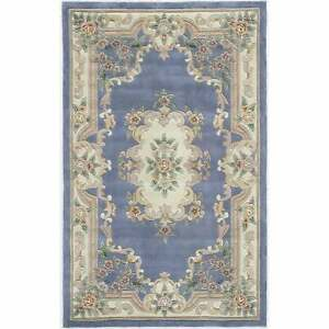 Iona-Hand-Tufted-Wool-Oriental-Accent-Rug-2-039-x-4-039-2-039-x-Light-Blue-2-039-x-4-039