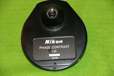 Nikon Microscope 125 Phase Contrast Darkfield Condenser Ph1 Ph2 Ph3 Ph4 Df Bf