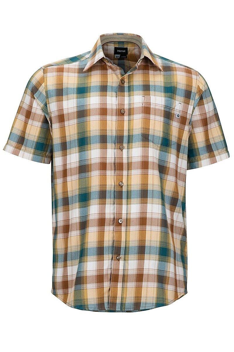 Marmot Men's Notus Short Sleeve (SS) Shirt - Dark Maple