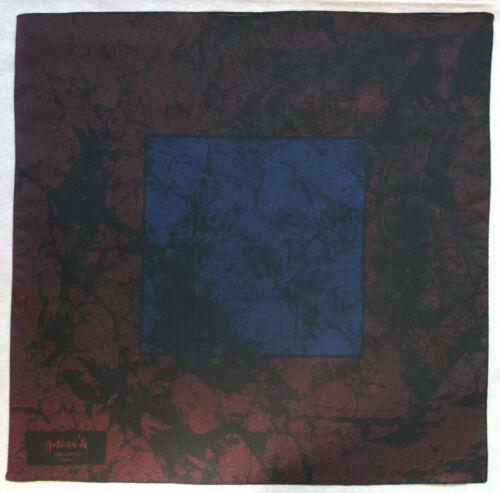 Hankie SILK Pocket Square Handkerchief MENS Hanky BURGUNDY BLACK by JACOMO Paris