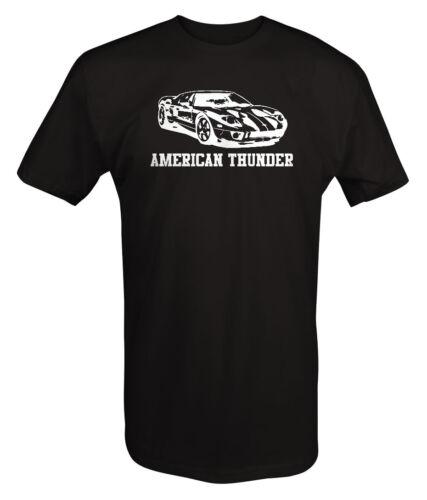 American Thunder Ford GT40 GT350 Racing Shadow Racing T Shirt