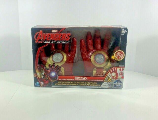 "RARE Marvel Avengers ""Age of Ultron"" Ironman Armor electronic Gloves NIB"