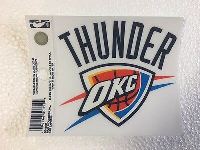 Oklahoma city thunder okc 3 x 4 small static cling truck car window decal