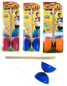 Diabolo-40cm-Sticks-amp-Cadena-Spinning-habilidades-de-circo-Juego-malabares-Diablo-Conjunto-de