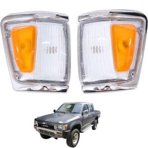 Toyota Hilux LN106 LN107 LN111 4WD 88-97 Fit L+R Chrome Signal Corner Light Lamp