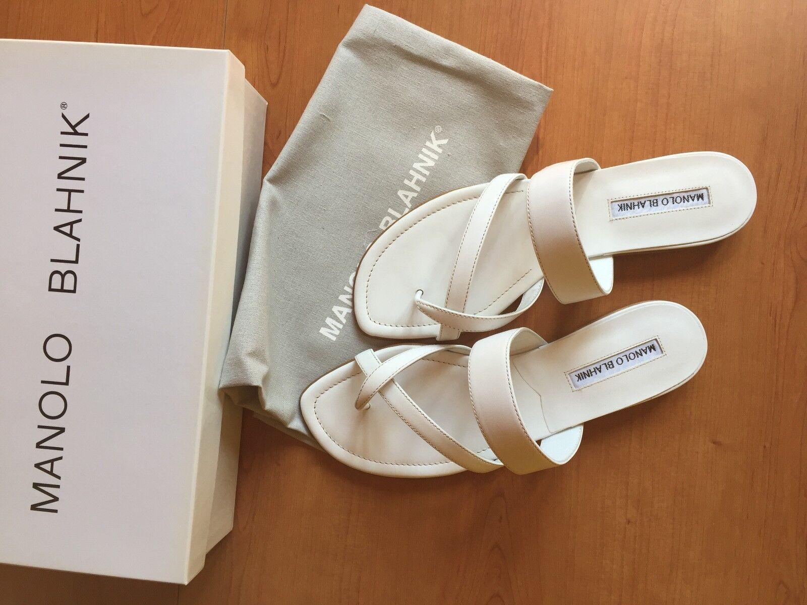 Manolo blahnik sandalias tira dedo flip flop Susa OVP dustbag