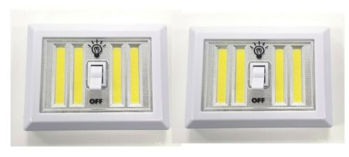 S//N Batterie Commutateur 2 x veilleuse DEL économie d/'énergie et facile à installer