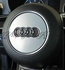 Brushed Aluminium Airbag Steering Wheel Wrap S RS A1 A3 A4 A5 A6 A8 TT Q3 Q5 Q7