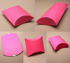 Paquete-De-12-Hot-Pink-Regalo-Almohada-Caja-Cajas-Boda-favor-al-por-mayor-Party-Box