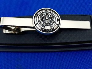 Us army tie clip united states army tie clasp us military heroes image is loading us army tie clip united states army tie ccuart Choice Image