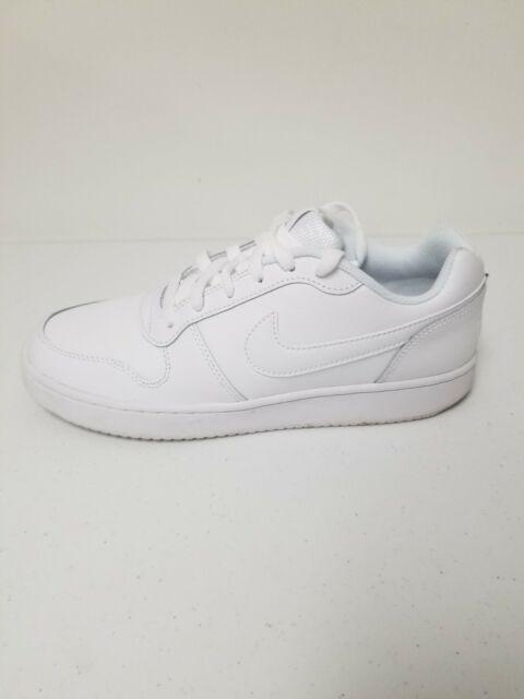 Nike!! Mens Ebernon Low White/White