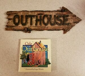Outhouse Arrow Wall Plaque Rustic Look Sign Western Decor + Ode to the Outhouse