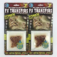 (2) Tinsley 3D Transfers Zombie Gash Makeup FX Transfers
