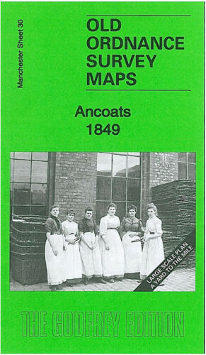 OLD ORDNANCE SURVEY MAP ANCOATS 1849 MANCHESTER POLLARD STREET MILL STREET
