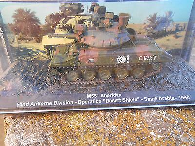 Die cast 1//72 Modellino Carro Armato Tank M551 Sheridan 82 Airborn Desert Shield