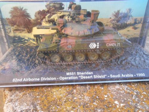 """1990 1//72 #30B# DIE CAST TANK /"""" M551 SHERIDAN SAUDI ARABIA"""