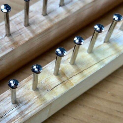 Nuevo 40 Pin de Madera Tejer Telar Tablero Y Ganchillo Aguja con defecto 27cm de largo